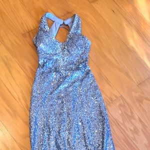 PROMGIRL lond sequin silver dress